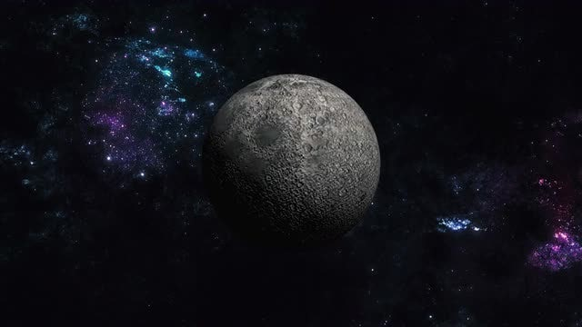 Moon in Space: Stock Motion Graphics