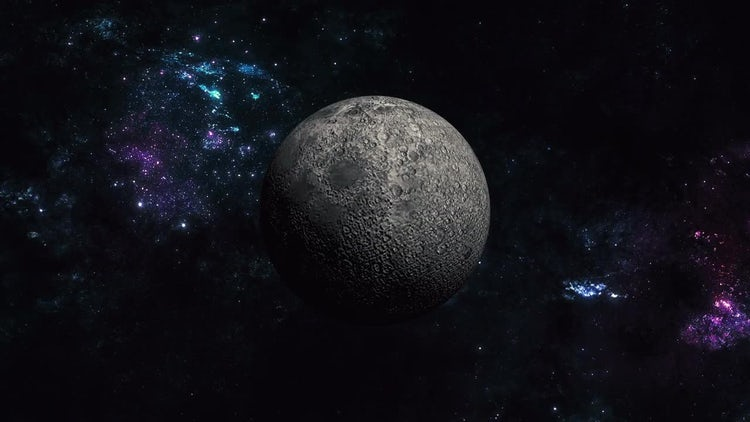Moon in Space: Motion Graphics