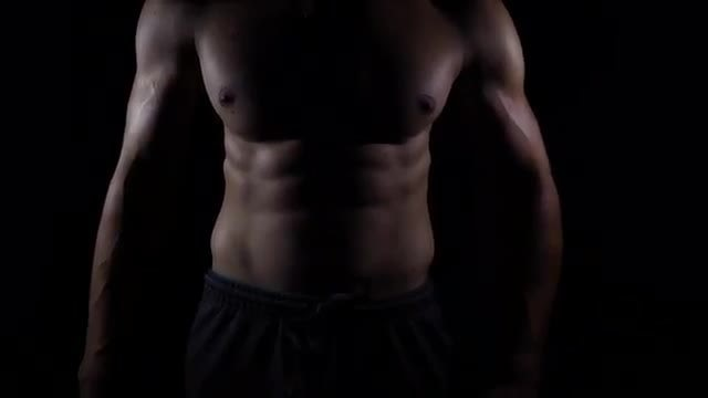 Ripped Sporty Male Body Pack: Stock Video