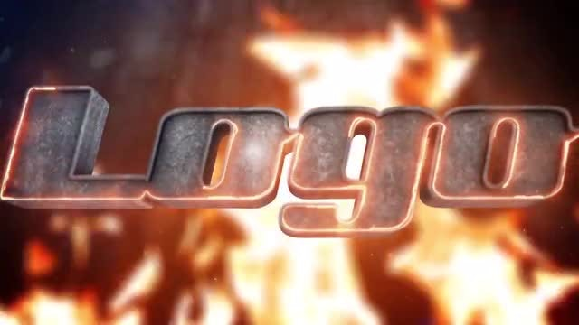 Fire and Metal Logo: After Effects Templates