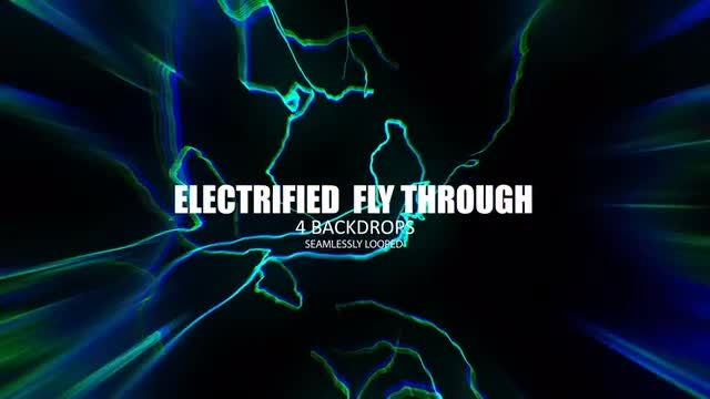 Electrified  String Tunnel Fly-Through Pack: Stock Motion Graphics