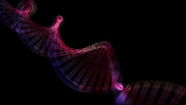 Illuminated DNA: Stock Motion Graphics