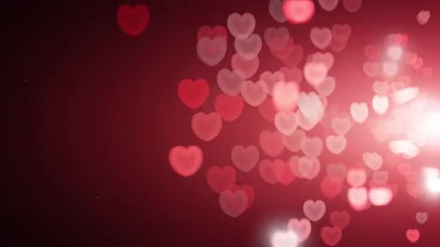 Illuminated Red Hearts Overlay Loop: Stock Motion Graphics