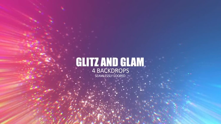 Glitz And Glam Background Pack: Stock Motion Graphics