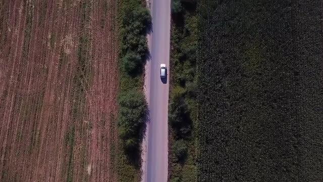 Aerial Shot Of Tarmac Road: Stock Video
