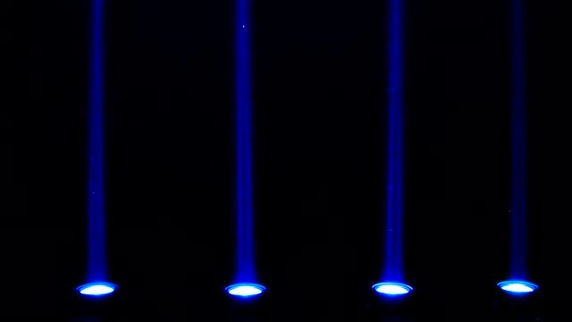 Four Blue LED Lights Flashing: Stock Video