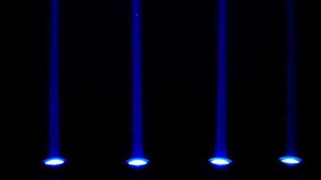 Four Blue LED Lights Flashing: Stock Video