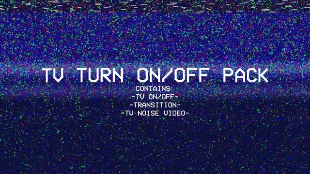 Old TV Turning On/Off Pack: Stock Motion Graphics