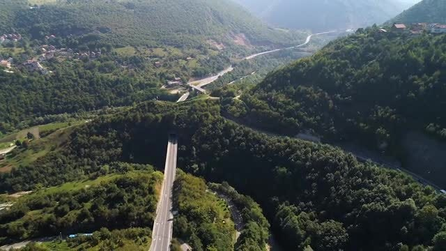 Aerial Shot Away From Mountain: Stock Video