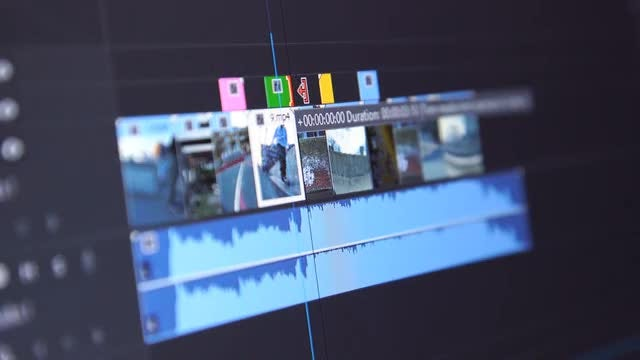Video Editing Timeline: Stock Video