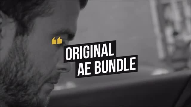 Box Typography: After Effects Templates