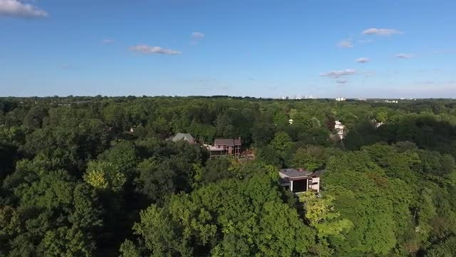 Luxury Houses In The Mountains Aerial: Stock Video