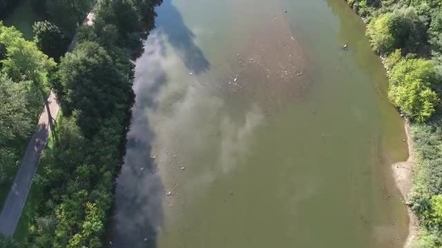 Flying Over A River: Stock Video