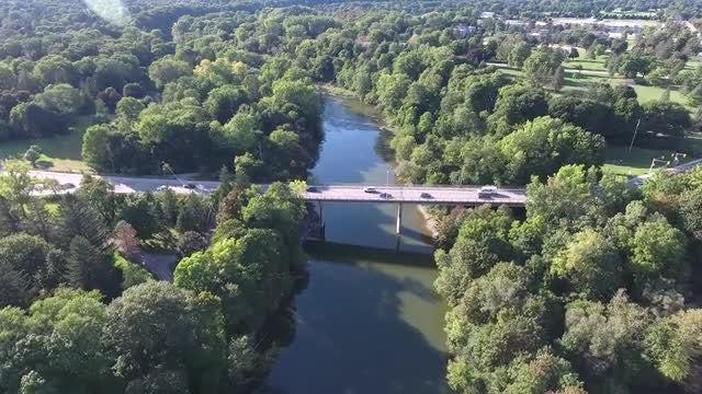 Bridge With Vehicular Traffic: Stock Video