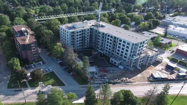New Apartment Construction Site: Stock Video