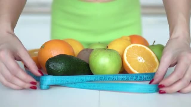 Keep Fit With Healthy Diet: Stock Video