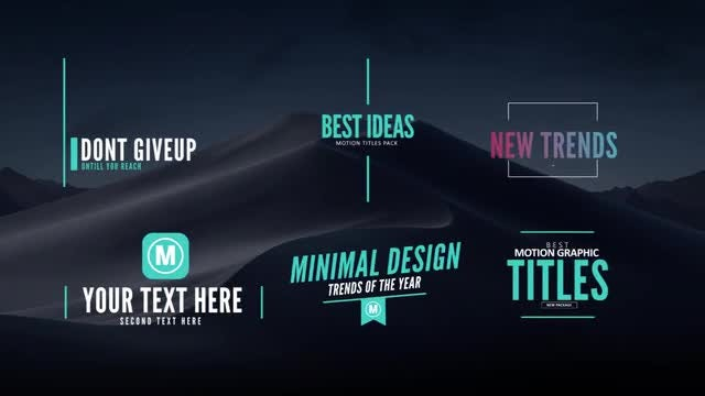 8 Motion Titles: After Effects Templates