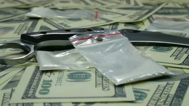 Drugs And Cash: Stock Video