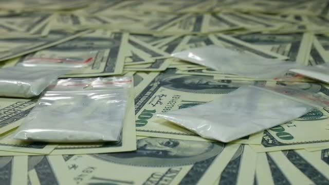 Illegal Drugs And Cash: Stock Video