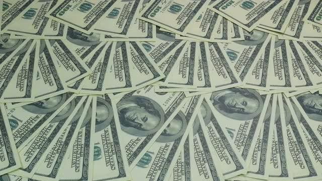 US Dollar Bills On Table: Stock Video