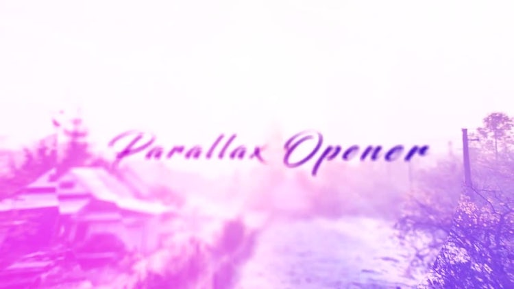 Parallax Opener: After Effects Templates