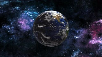 Earth Rotation In Space: Motion Graphics