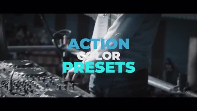 Action Color Presets: Premiere Pro Presets