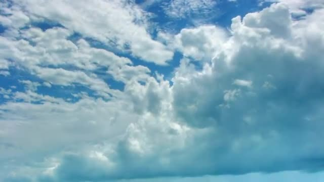Time Lapse Of White Clouds: Stock Video
