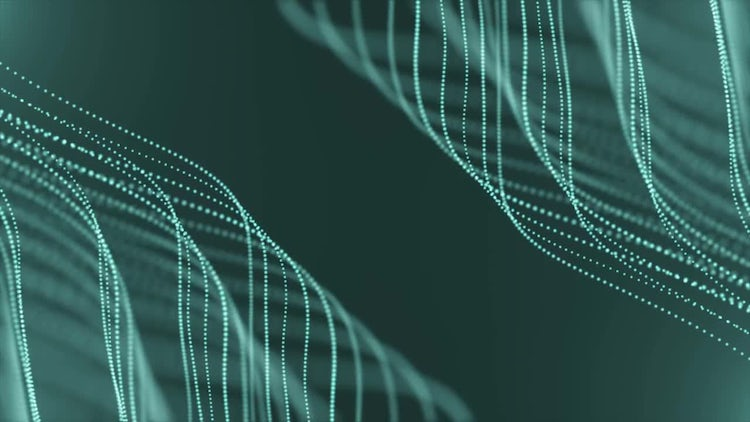 Cyan Looped Background: Motion Graphics