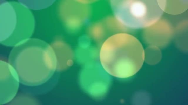 Soft Green Particles: Stock Motion Graphics