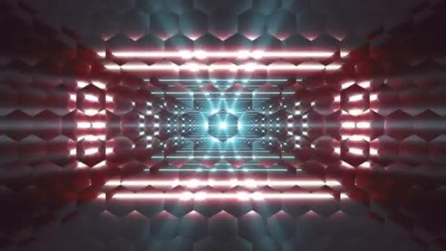 Hexa Glass VJ Loop: Stock Motion Graphics
