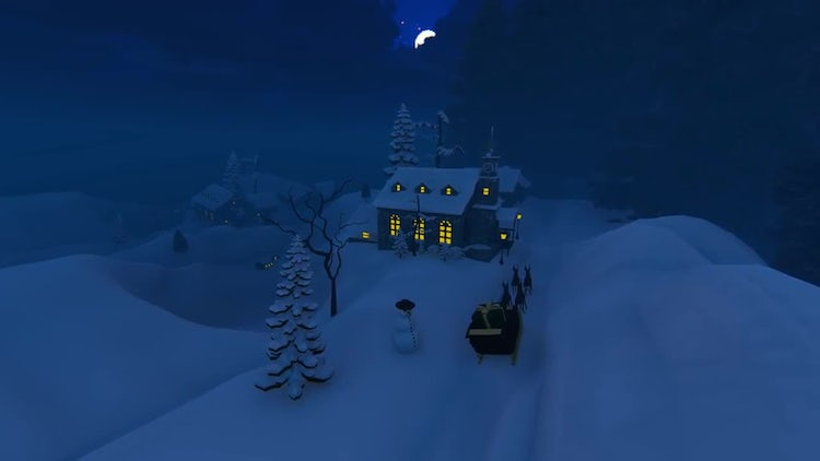 A Winter Night: Stock Motion Graphics