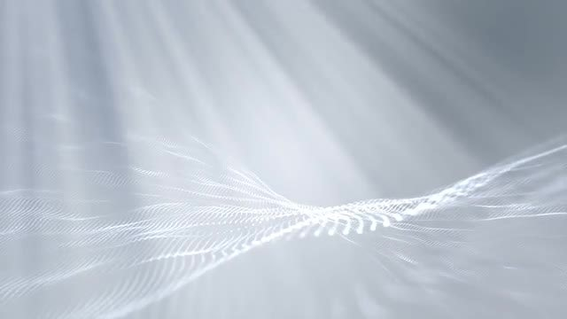 Heavenly Light Over Wavy Background: Stock Motion Graphics