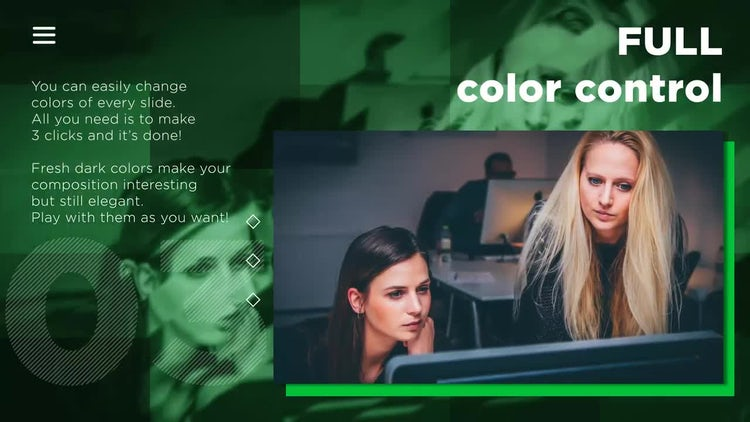 Color corporate slides: After Effects Templates