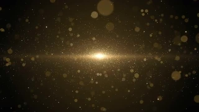 Elegant Gold Bokeh Background: Stock Motion Graphics