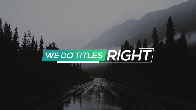 New Fresh Titles: After Effects Templates