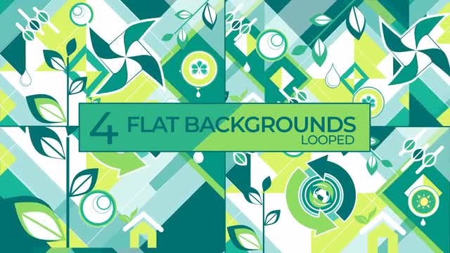 Ecology Vector Shapes Background Collection.: Stock Motion Graphics