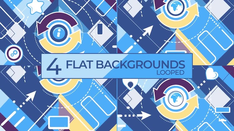 Social Network Vector Background Collection.: Stock Motion Graphics