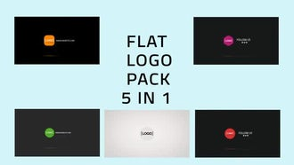 Flat Logo Pack 5 in 1: After Effects Templates