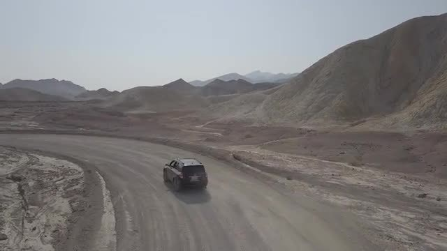 Vehicle Driving In Death Valley: Stock Video