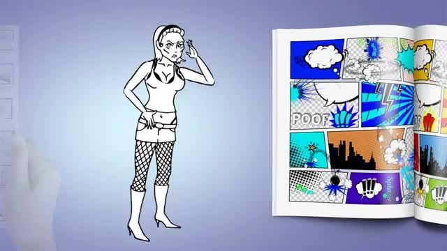 Doodle Animation - Female: After Effects Templates