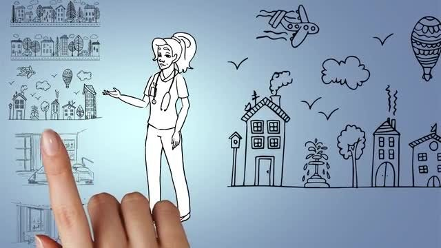 Doodle Animation - Female Doctor: After Effects Templates