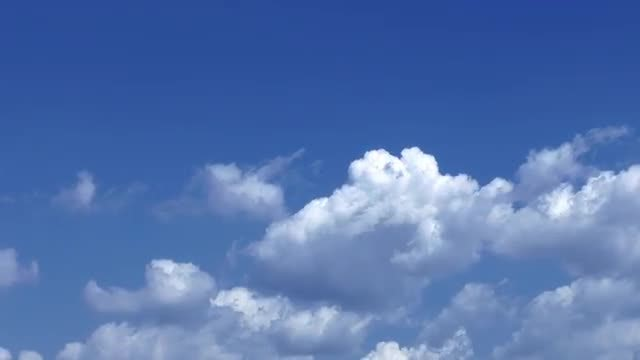 Soft Clouds Moving Below Sky: Stock Video