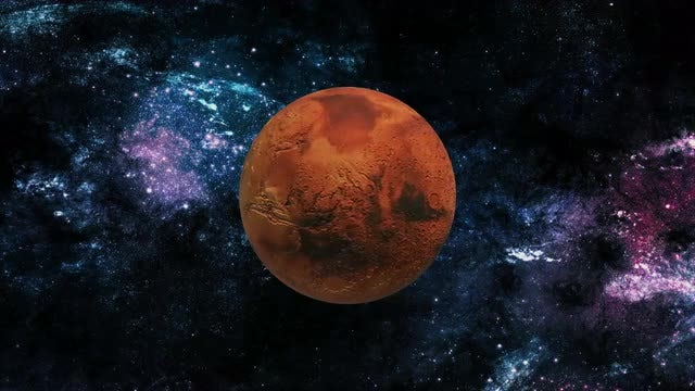 Mars In Space: Stock Motion Graphics