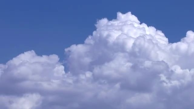Large White Clouds Moving: Stock Video
