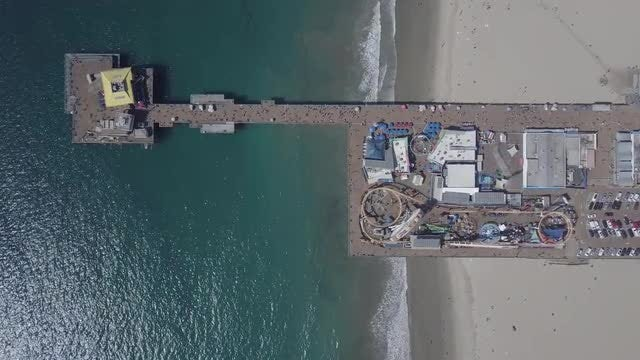 Pacific Park Pier In Venice: Stock Video