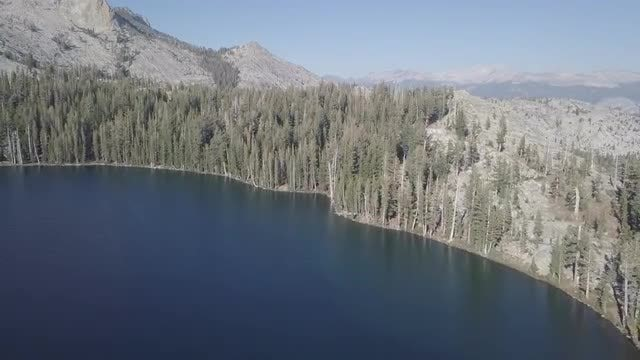 Aerial Shot Of Desert Lake: Stock Video