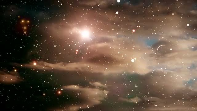 bronze colored outer space background stock motion graphics