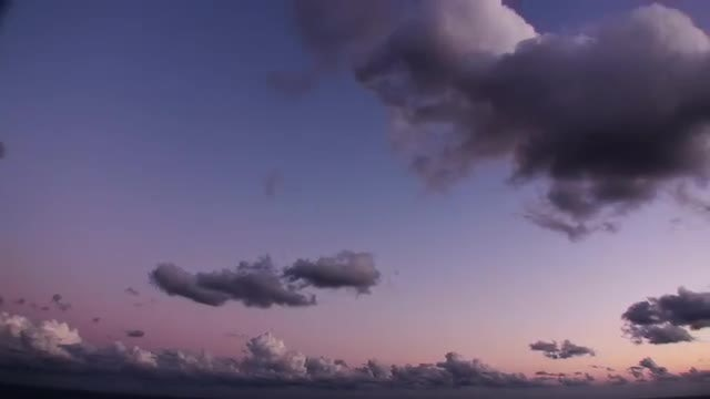 Sunset Time-lapse Clouds: Stock Video