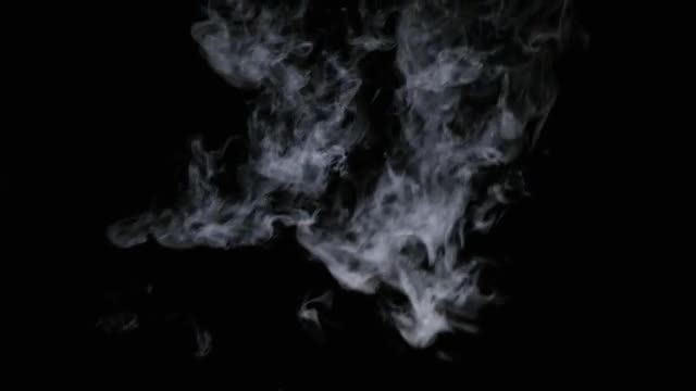 White Smoke Falling From Above: Stock Video